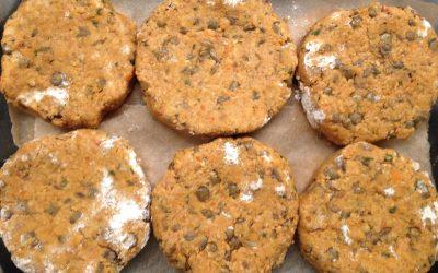 A recipe: lentil burgers